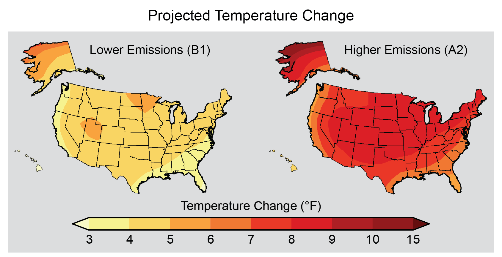 Nca3 Data North Carolina Institute For Climate Studies - Us-map-of-temperatures
