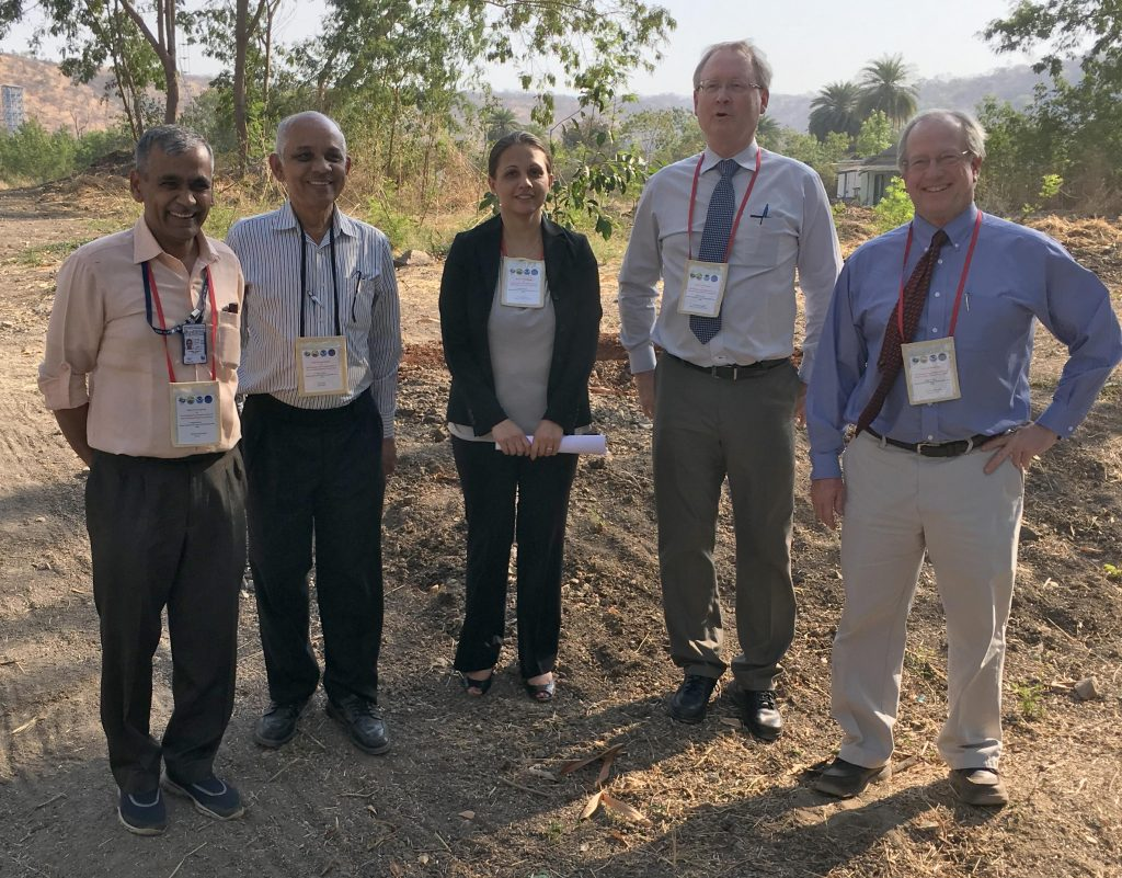 Photo of workshop participants, including Jenny Dissen, Ken Kunkel, and David Easterling. Taken in Pune, India on March 7, 2017