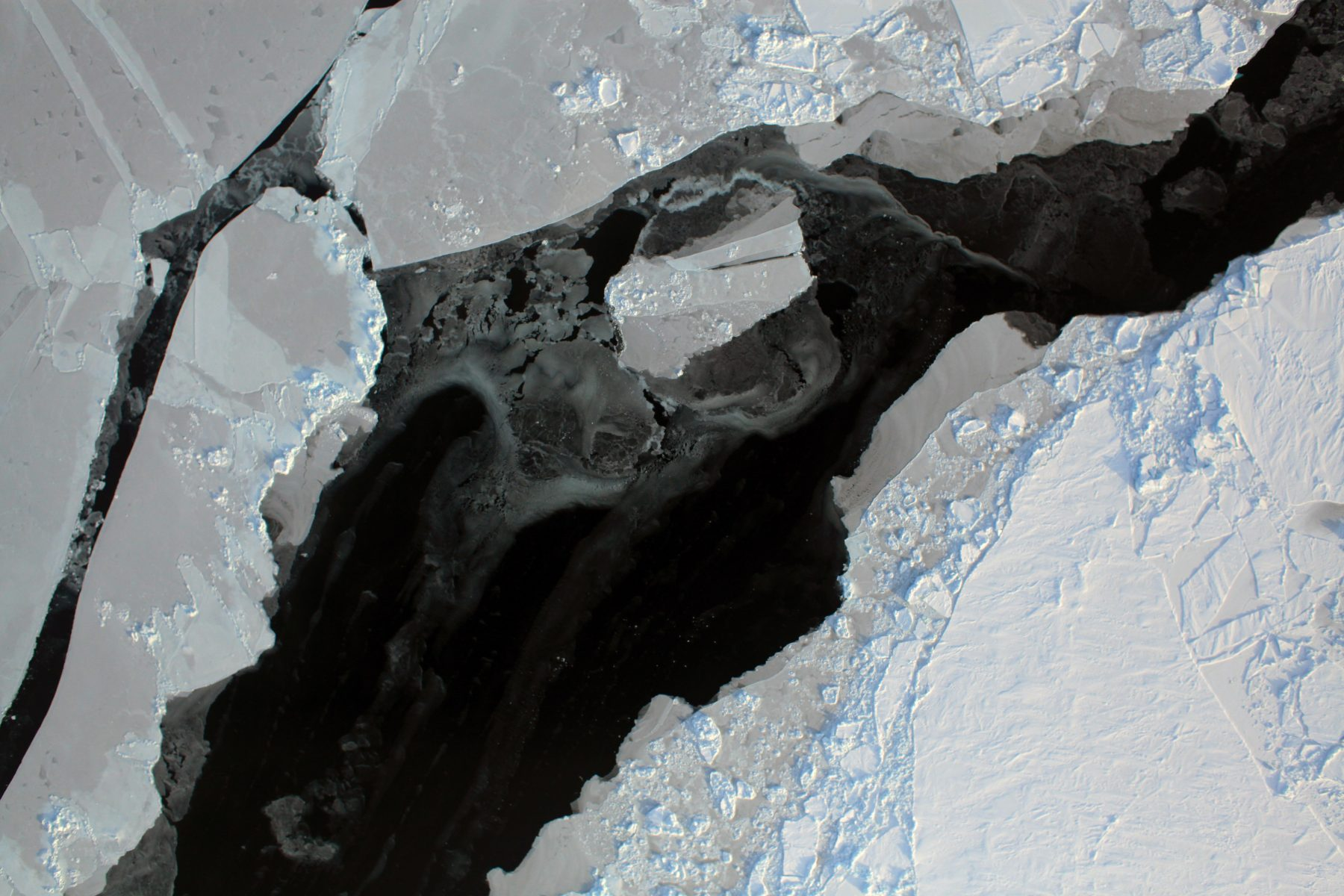Aerial photo showing Arctic sea ice
