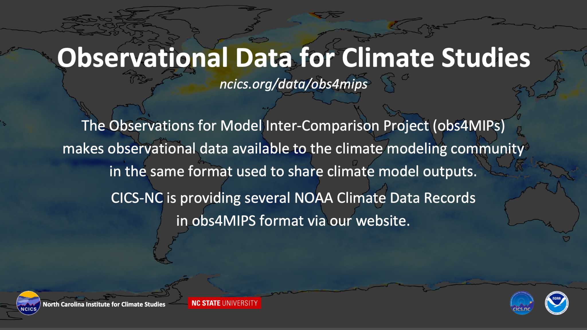 Observational  Data for Climate Studies