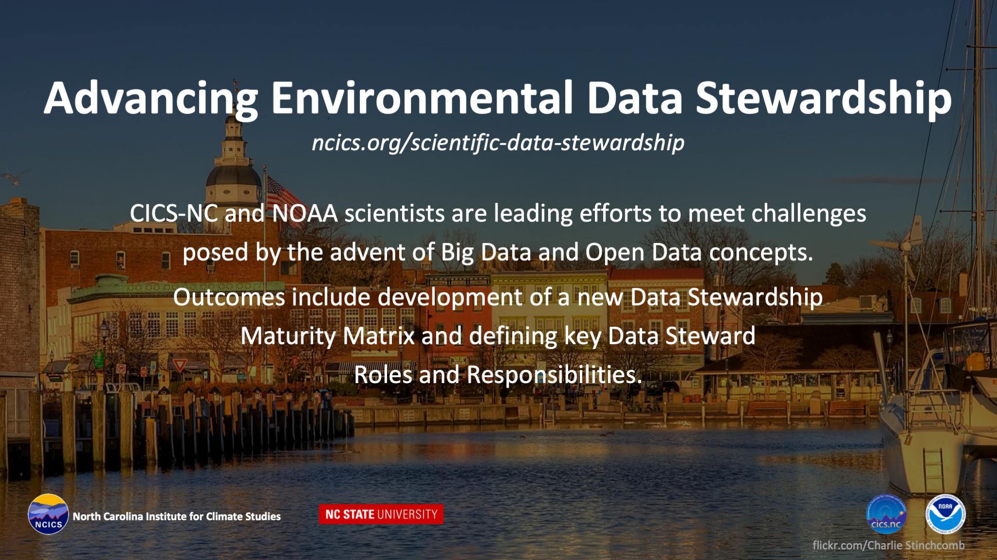 Advancing Environment Data Stewardship
