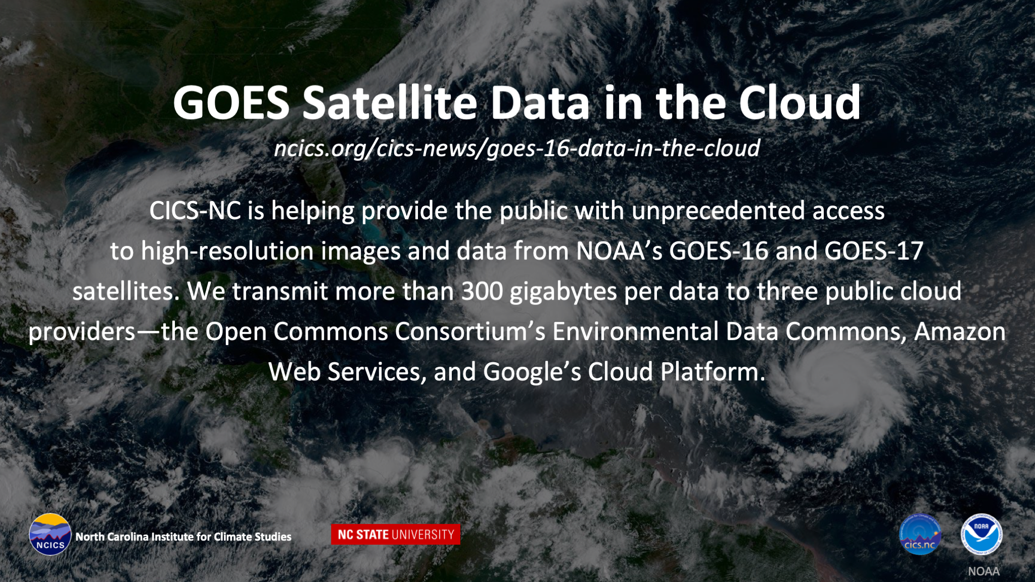 GOES Satellite Data in the Cloud