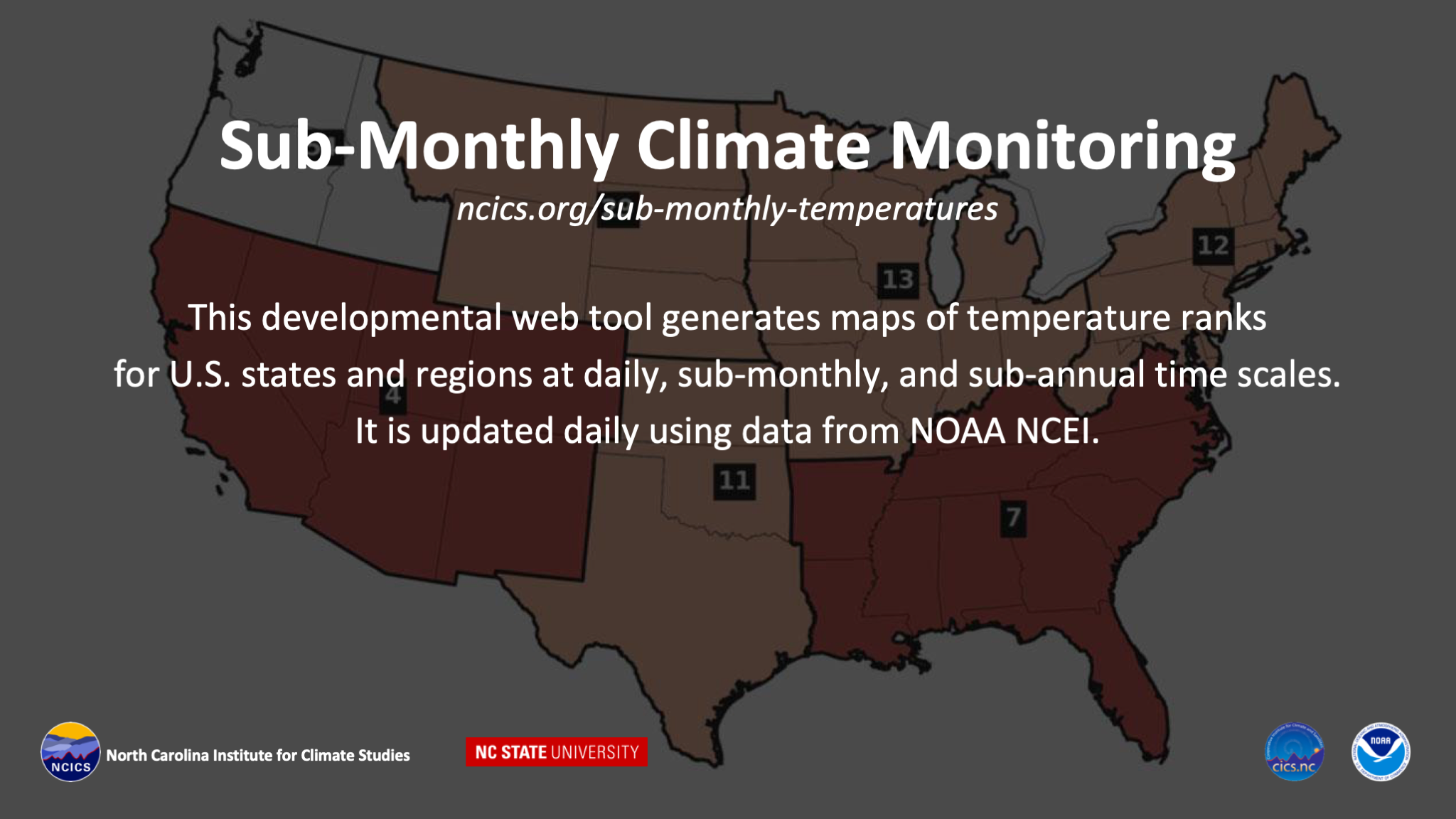 Sub-Monthly Climate Monitoring