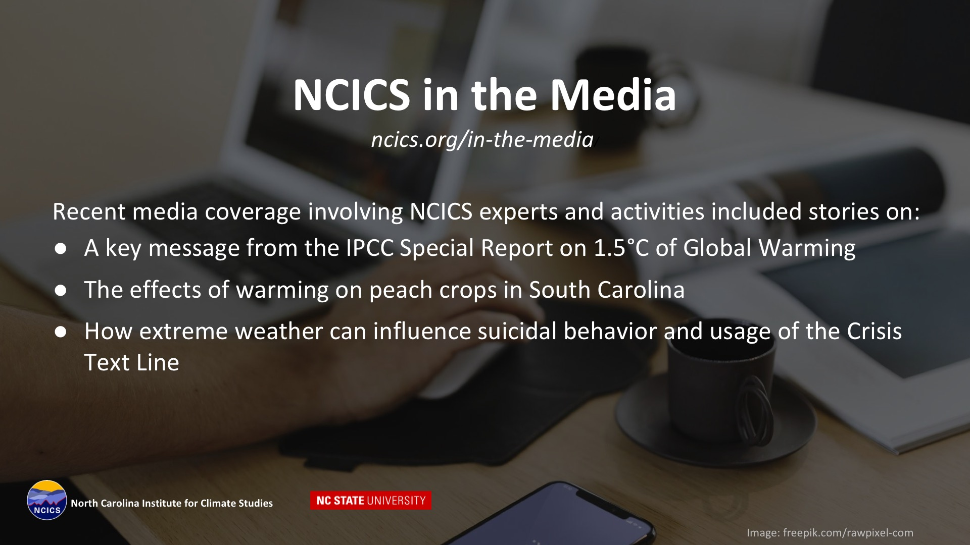 NCICS in the Media