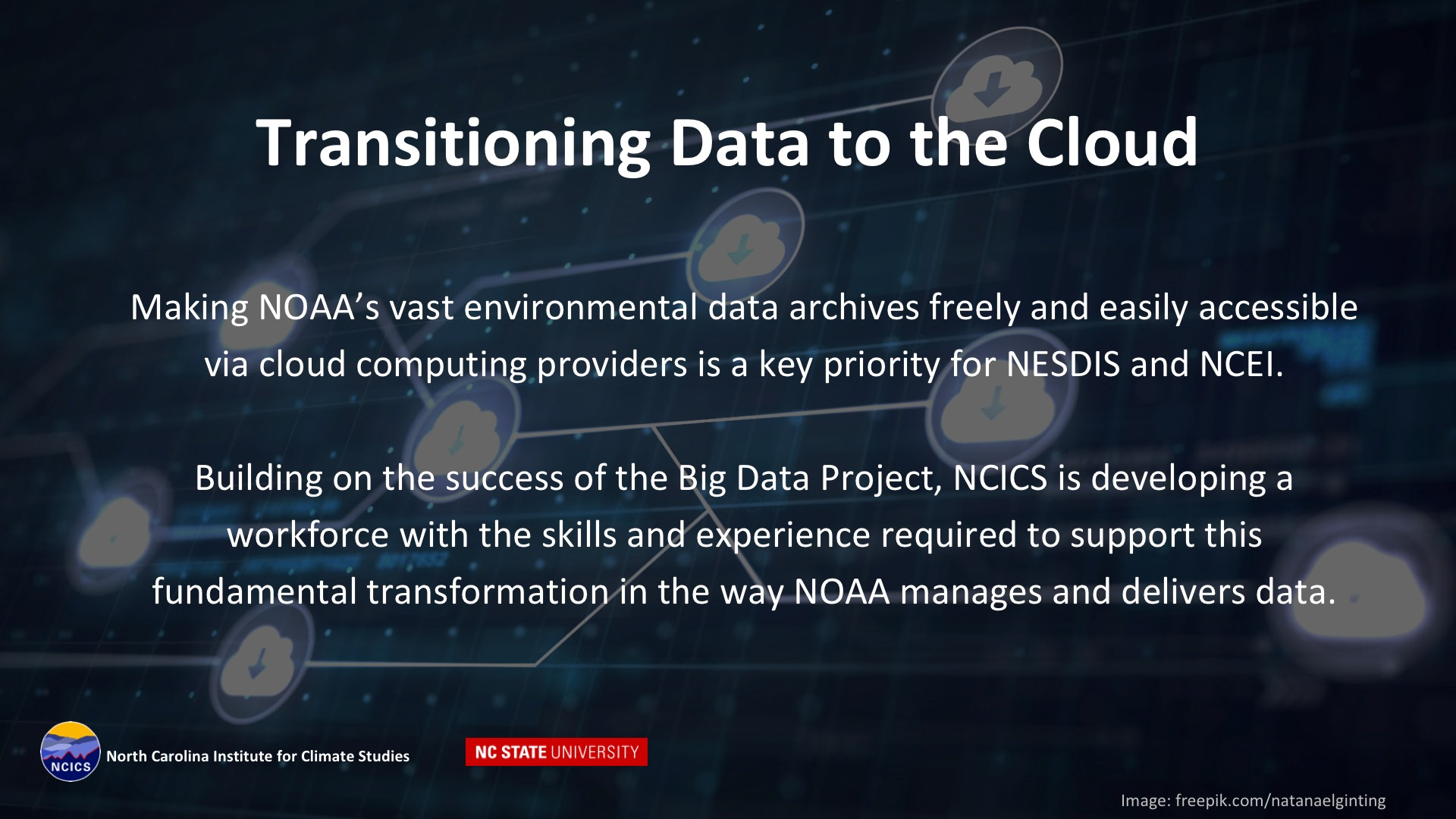 Data to the Cloud