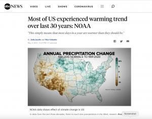 Screen shot of ABC News web story