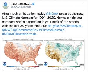 Tweet from NOAA NCEI